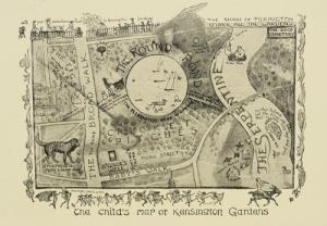 map of kensington gardens-little white bird