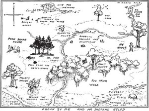 map of the hundred acre wood