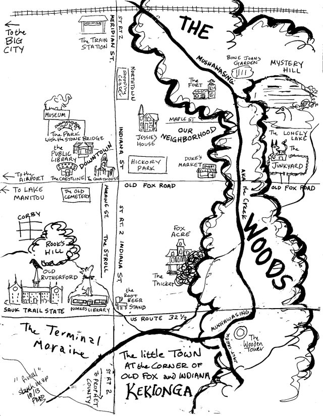 sketch map inked
