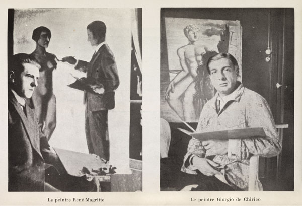 magritte and de chirco magazine