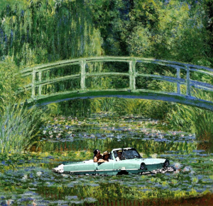 old car landscape-amphicar monet