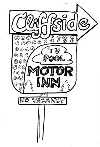 cliffside motor inn sign