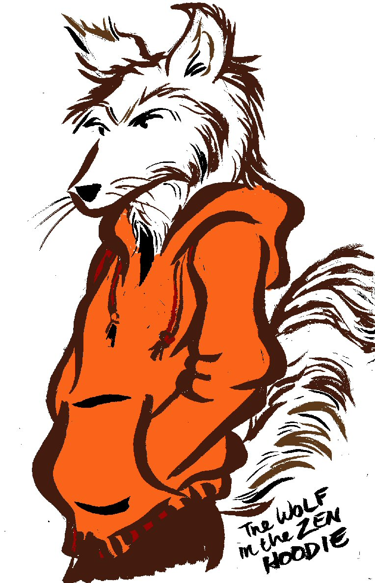 Drawing Of The Day Color Special The Wolf In The Zen Hoodie A