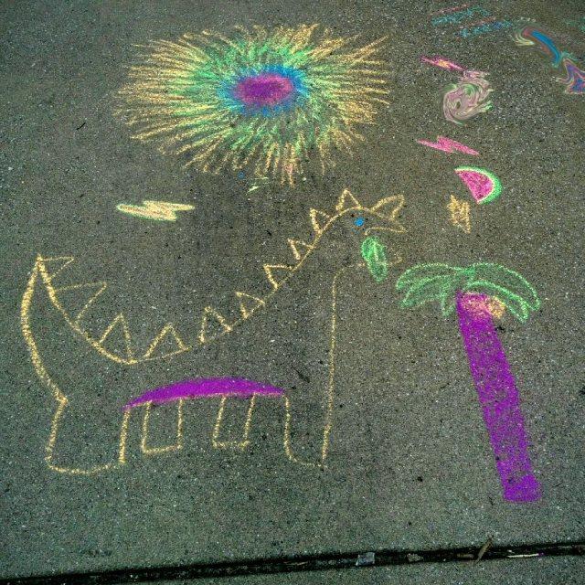 sidewalk art-blog