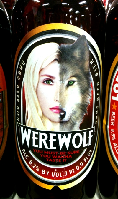 bigger werewolf beer label