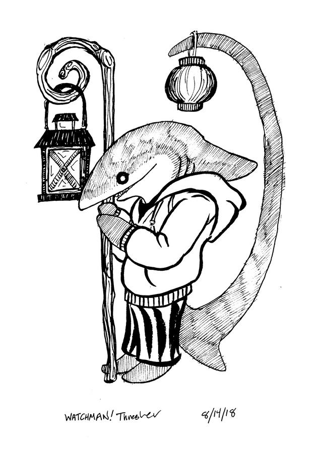 pajama shark week watchman a cartoonist in kekionga